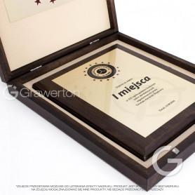 Blacha do sublimacji konfekcjonowana, półmatowa złota, format L