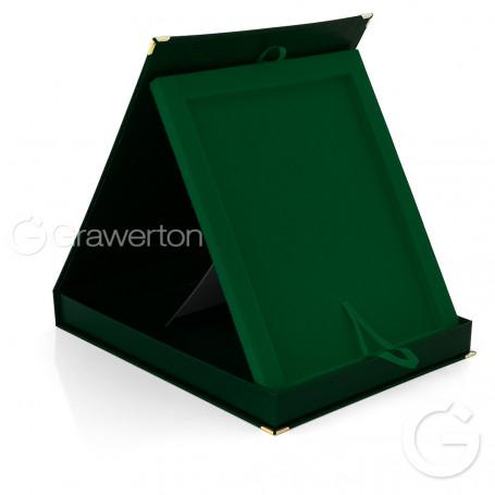 Szkatułka z płytką ceramiczną do nadruku zielona